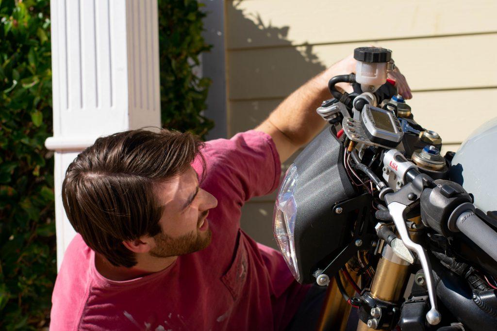 t-shirt pour le bricolage de moto